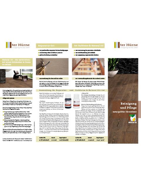 Reinigung und Pflege naturgeölter Holzböden