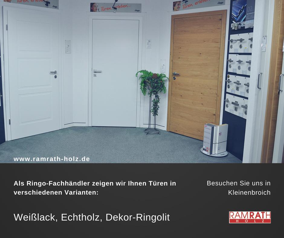 Weißlack, Echtholz, Dekor-Ringolit, Glastüren, Schiebetüren aus Glas und Holz